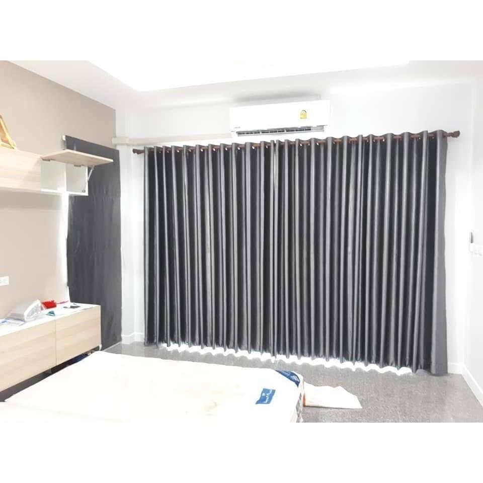 ผ้าม่านสำเร็จรูปกันแสงUVแบบเจาะตาไก่ราคาถูกติดตั้งได้เอง ม่านหน้าต่างม่านประตู