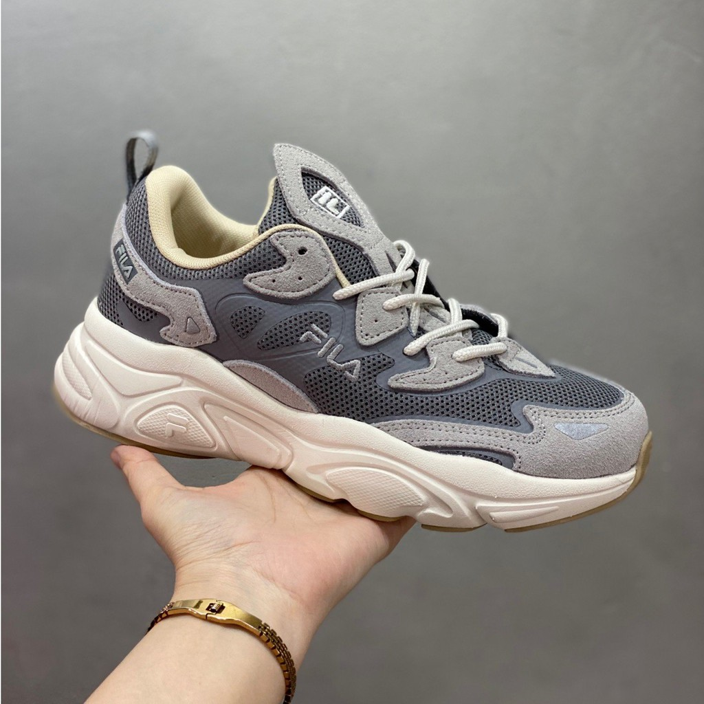 🙌🎉FILA FUSION SWARM รองเท้าผ้าใบรองเท้าวิ่ง