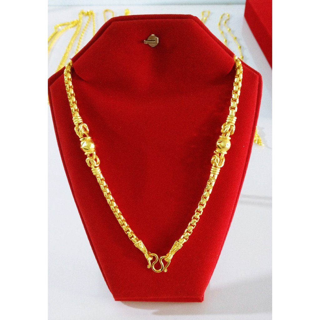ลดราคาพิเศษ ★★ สร้อยคอทอง หนัก 2 บาท ชุบทองคำแท้ เหมือนแท้ทุกจุด สร้อยคอทองเหมือนแท้ สร้อยทอง 2 บาท