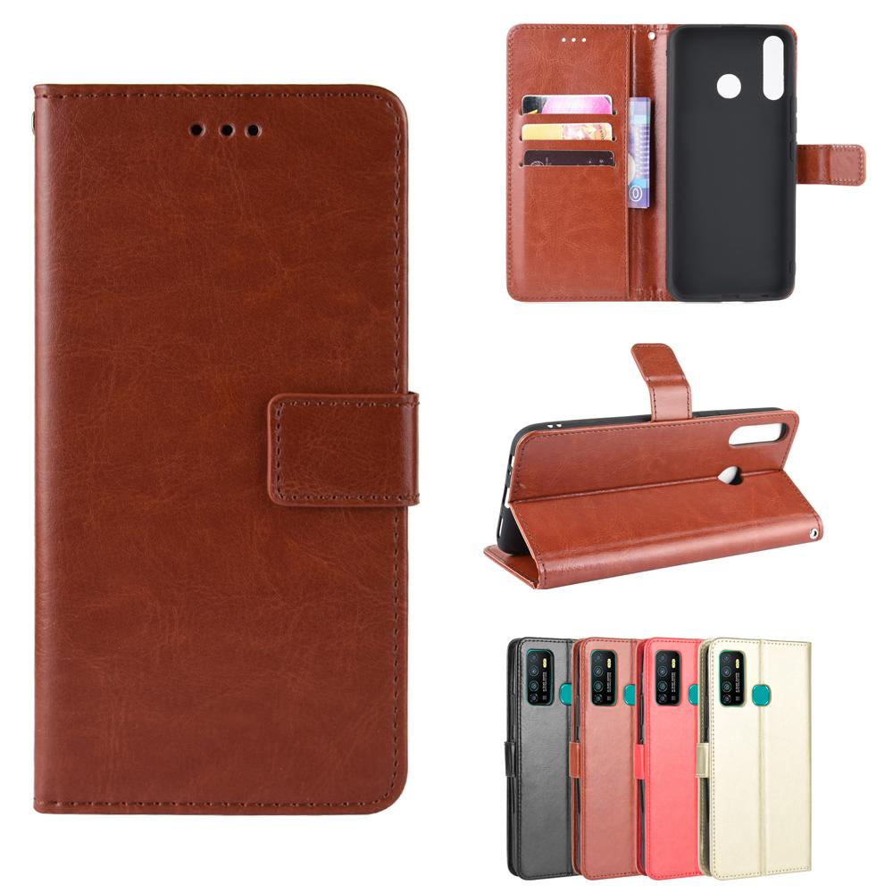 เคส Infinix Hot 9 Play S5 Note 7 Lite Smart 4 3 Plus + S4 8 6 Pro Case Wallet Stand Simple Style Phone Leather Case