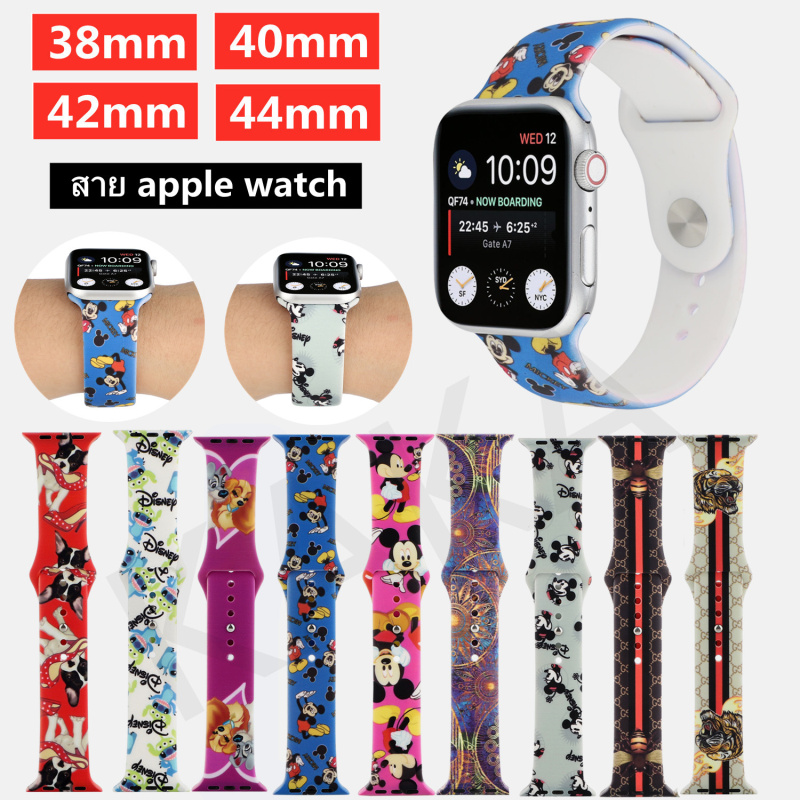 Apple watch strap 2021 new printed silicone Applicable to Apple Watch Series 3 4 5 6 SE Watch Band 38/40mm 42/44mm