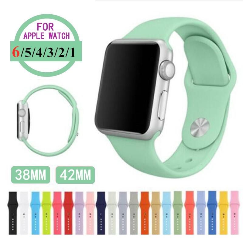 สร้อยข้อมือสายนาฬิกาสำหรับ Apple Watch 6 5 4 3 2 1 Se กีฬาสำหรับ 38mm 42mm 40mm 44mm Series Series Series สี 1-12 Applewatch Applewatchmilaneseloop Applewatchseries3 สายนาฬิกาข้อมือ