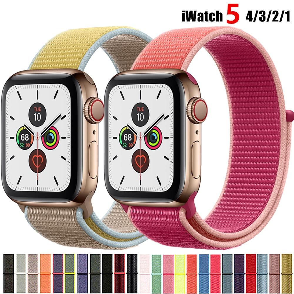 สายนาฬิกาข้อมือไนล่อนสําหรับ Apple watch band 38มม. 42มม. สําหรับ iWatch band series 6 5 4 3 2 SE