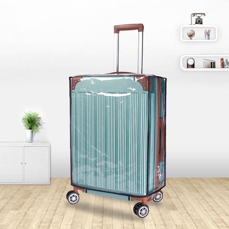 ฝาครอบป้องกันกระเป๋าเดินทาง 24 นิ้วรถเข็นกระเป๋าเดินทาง PVC ใสกันน้ำหนากันฝุ่นสวมใส่ ผ้าคลุมกระเป๋าเดินทาง 