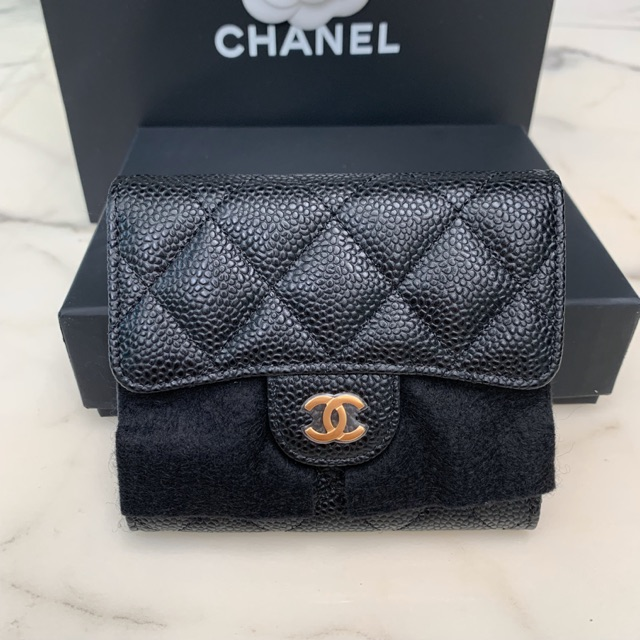 New Chanel trifold wallet holo 29