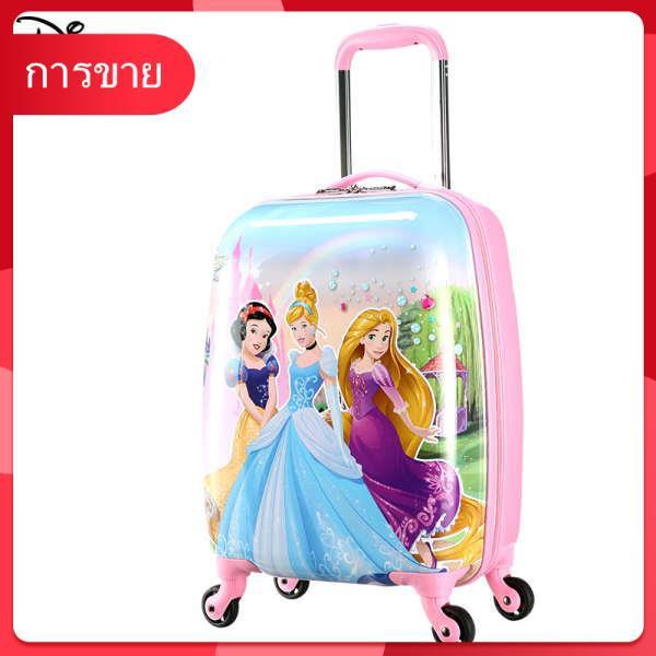 กระเป๋าเดินทางเด็ก Disney สามารถติดกระเป๋าเดินทางเด็กผู้หญิง 16 นิ้ว 18 การ์ตูนน่ารักเด็กรถเข็นเด็ก