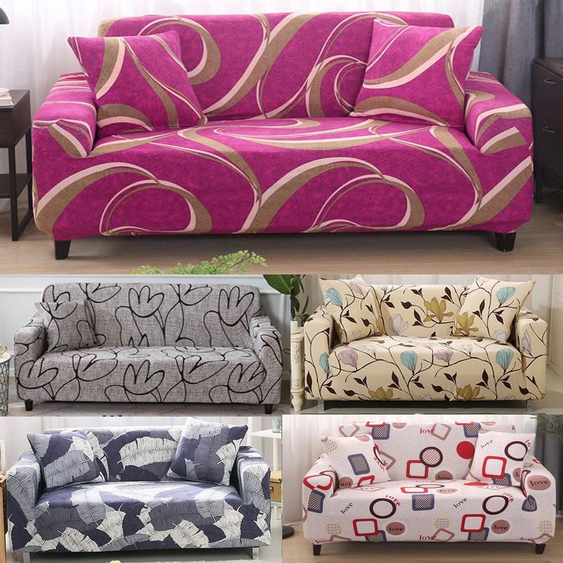 ผ้าคลุมโซฟา สำหรับโซฟา 1/2/3/4 ที่นั่ง โซฟารูปตัว L พร้อมปลอกหมอน 1 ใบ