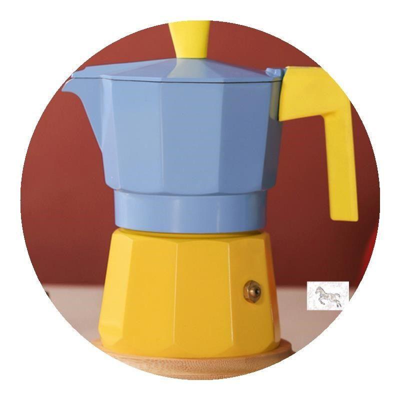 ▽ผลิตภัณฑ์ใหม่  หม้อ Moka, วาล์วคู่, เครื่องทำกาแฟในครัวเรือนขนาดเล็ก, เครื่องชงกาแฟเอสเปรสโซ, มือ ชุดหม้อกาแฟ จัดส่งฟ