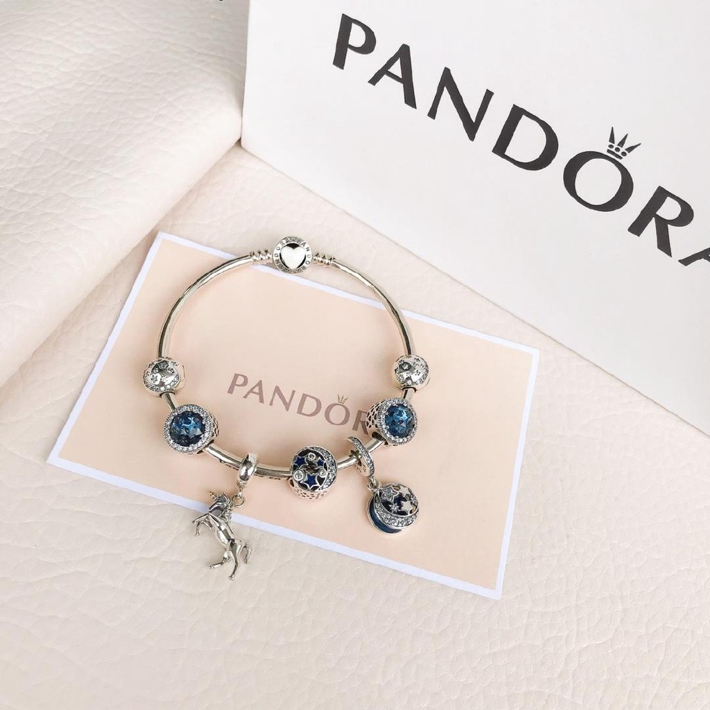 f38f10a50 Pandora Inspiration Safety Chain 791736Cz Temperament Bracelet Beaded Woman  Diy | Shopee Thailand