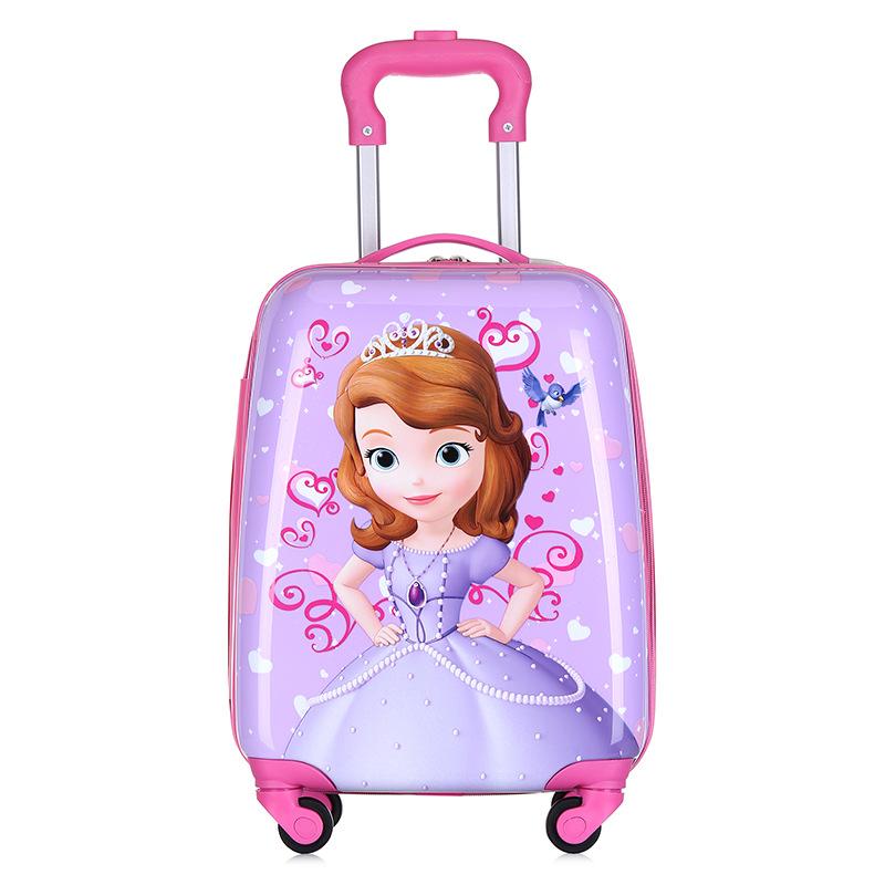 ✪﹎กระเป๋าเดินทางเด็ก  กล่องเดินทางกรณีรถเข็นเด็กการ์ตูนแบบกระเป๋าเดินทาง16นิ้ว18นิ้วเจ้าหญิงกระเป๋านักเรียนกระเป๋าขึ้นเค