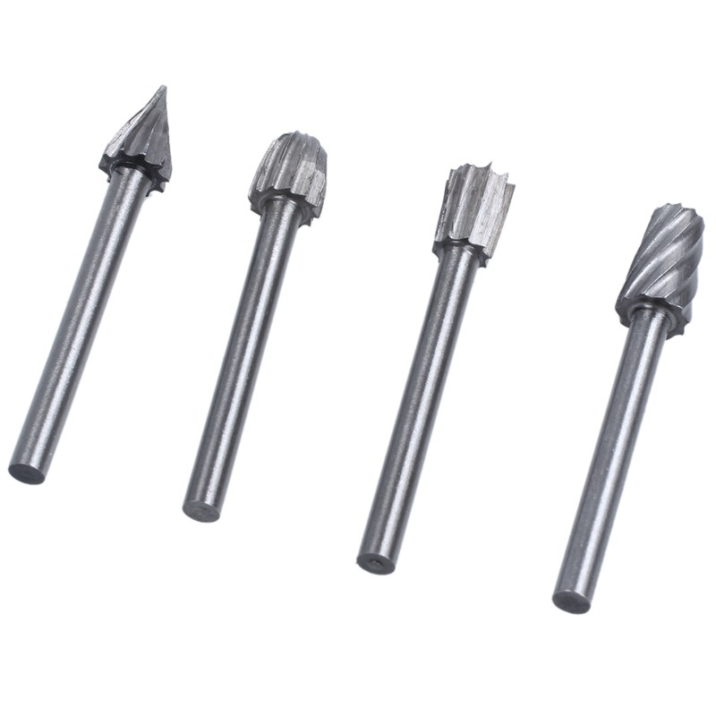Ball Nose Cone 6mm x 20mm x 50mm X 6mm Shank Tungsten Carbide Burr