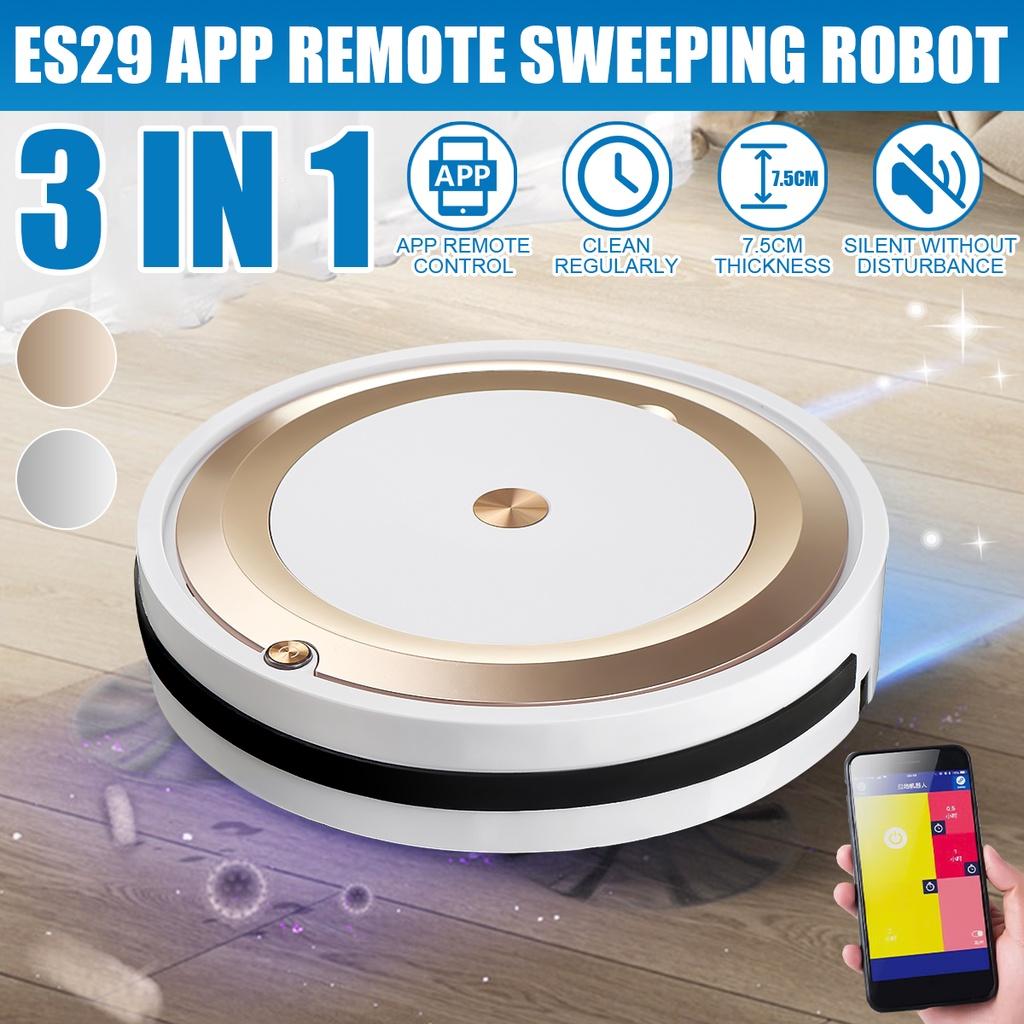 หุ่นยนต์ดูดฝุ่น ♡3 - In - 1 หุ่นยนต์ดูดฝุ่นทําความสะอาดมัลติฟังก์