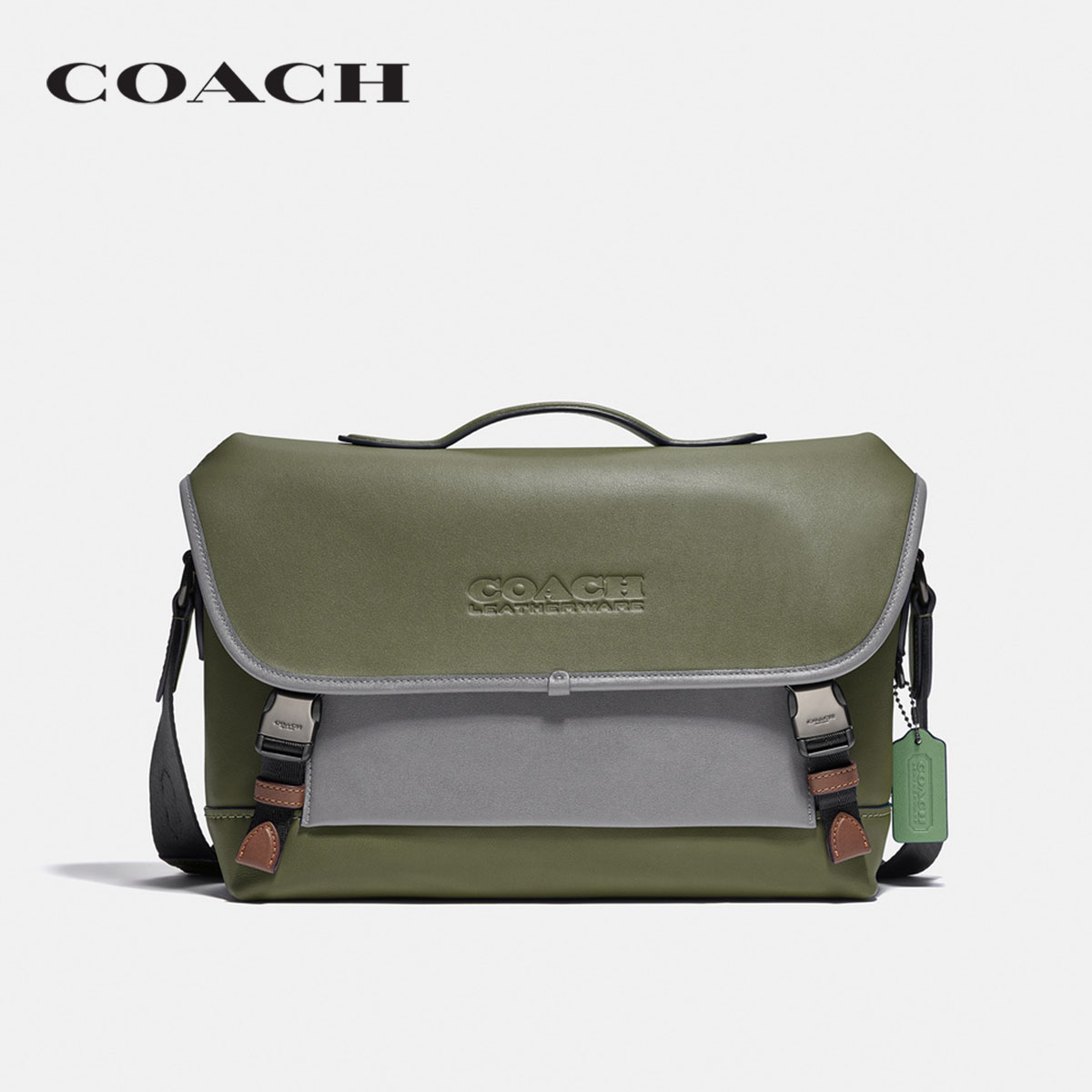 COACH LEAGUE BIKE BAG IN COLORBLOCK COC2665 JISB3 กระเป๋าสะพายข้าง