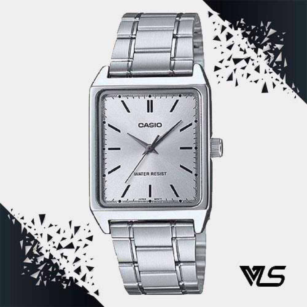 Casio Standard นาฬิกาข้อมือสุภาพบุรุษ สายสแตนเลส รุ่น MTP-V007D-7EUDF (สีเงิน)