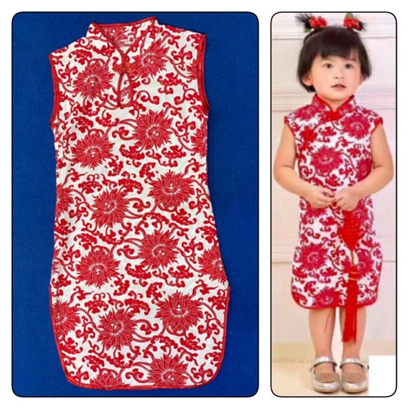 ชุดวันตรุษจีน ชุดตรุษจีนเด็กผู้หญิง ชุดกี่เพ้า #ชุดเด็กผู้หญิงใส่วันตรุษจีน#