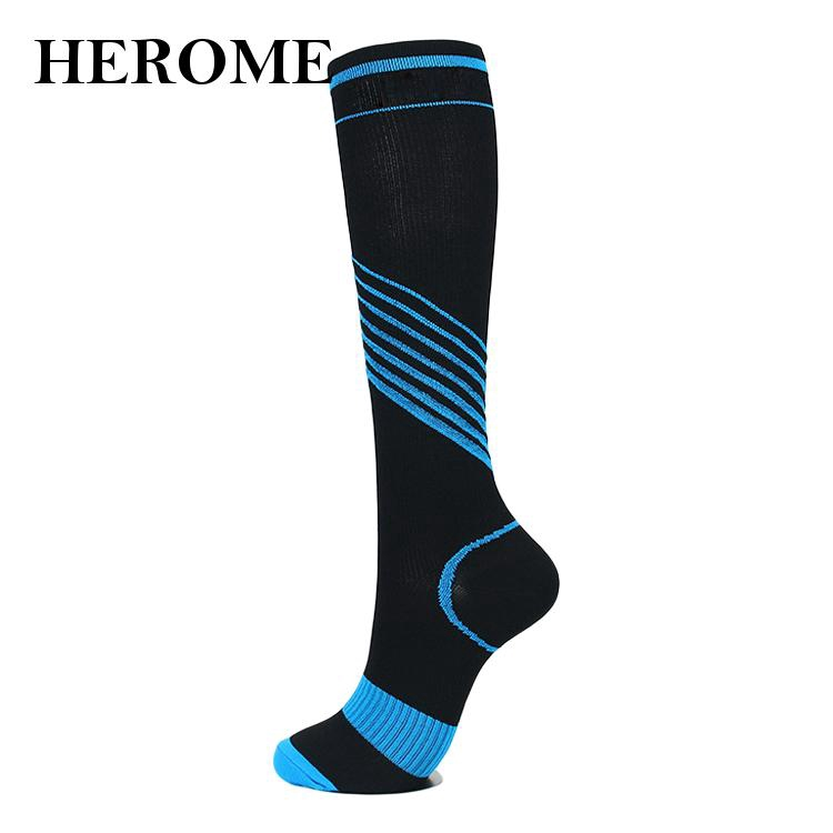 New 1Pair Unisex Cycling Sports Socks Long Tube Compression Socks Casual Gift