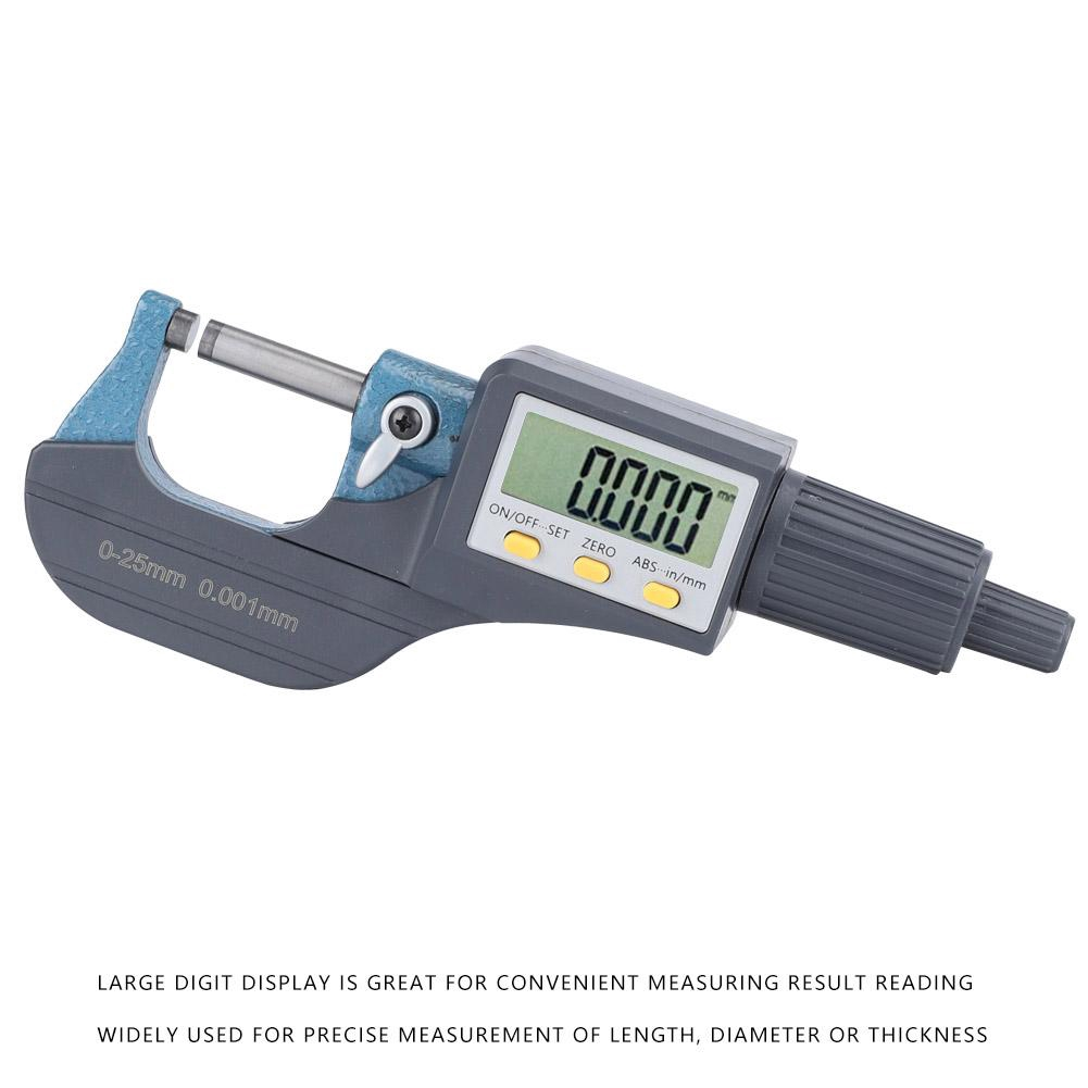 Electronic Digital High Precision Outside Micrometer Thickness Gauge 0-25mm USA