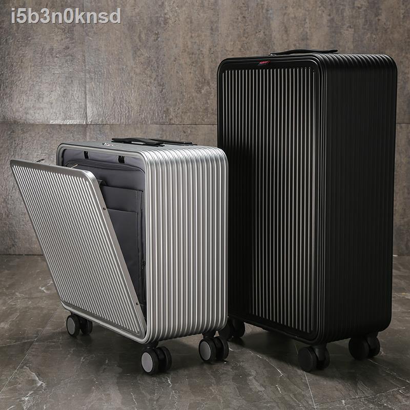 กระโปรงหลังรถ☽รถเข็นโลหะผสมอลูมิเนียมแมกนีเซียม Yi Erxin กระเป๋าเดินทางผู้หญิง 20 ใบ ชาย 24 คน 18 นิ้ว กระเป๋าเดินทางขนา