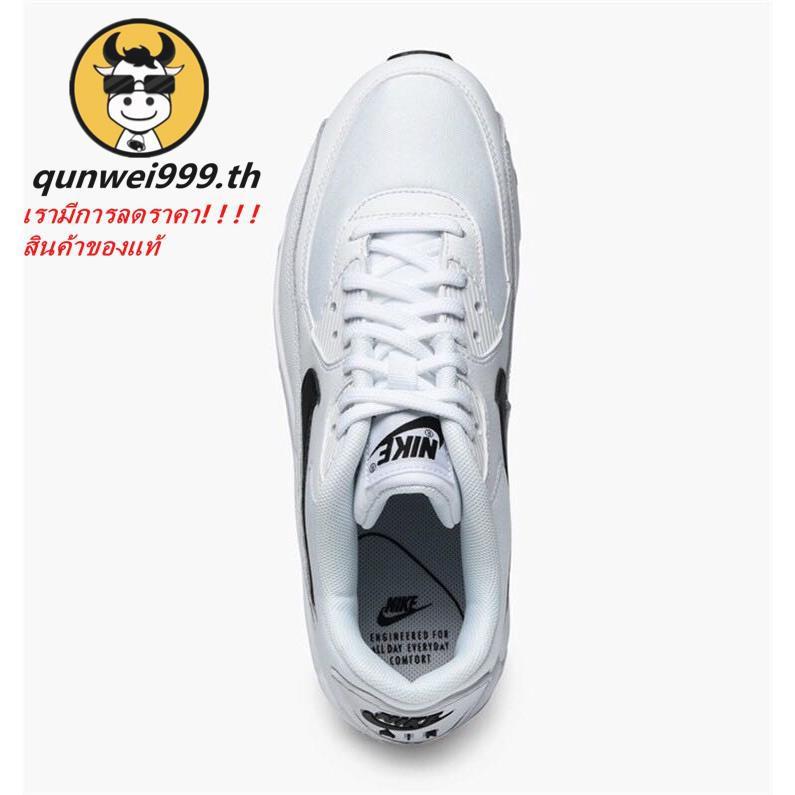 แท้ Nike AIR MAX90 รองเท้าผ้าใบผู้หญิง NIKEรองเท้าผ้าใบสีขาว รองเท้าคัชชูผู้หญิง N-325213-131-137-135