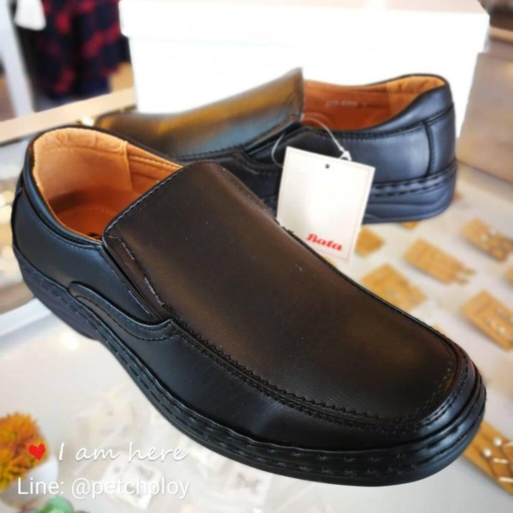 Bata รองเท้าหนังคัชชูผู้ชายบาจา พื้นเย็บ ใส่ทน หน้ากว้าง ใส่สบาย รุ่นขายดี รหัส 851-6459