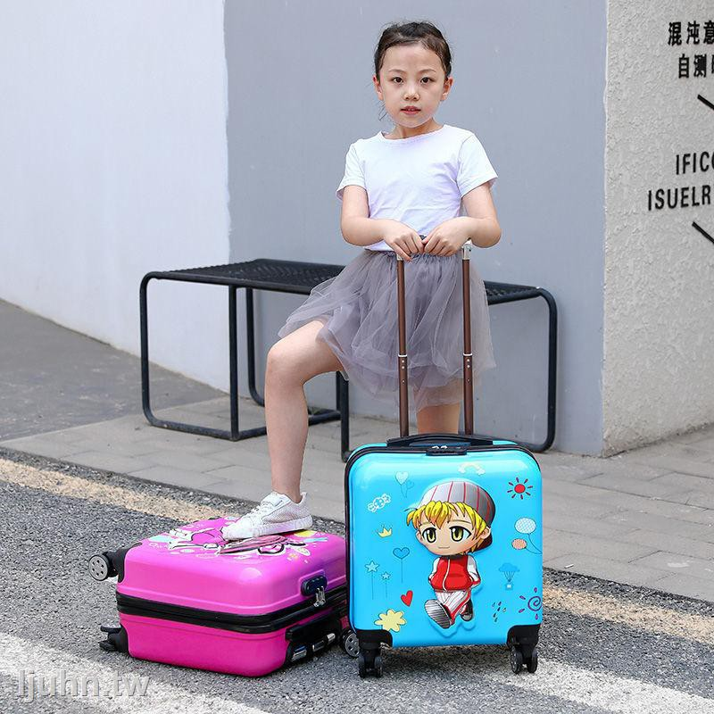 กระเป๋าเดินทางมีล้อเลื่อน 18 นิ้วสําหรับเด็ก
