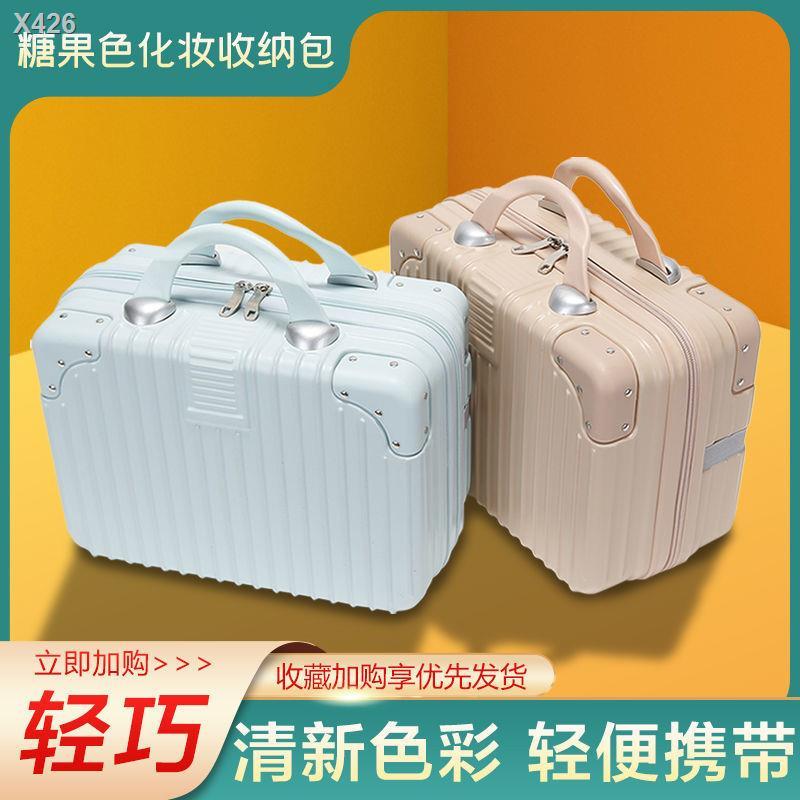 ♀♈กระเป๋าเครื่องสำอางขนาด 14 นิ้ว กระเป๋าเดินทางขนาดเล็กแบบพกพา กระเป๋าเดินทางขนาดเล็กน่ารัก ที่เก็บเครื่องสำอางใหม่สำหร