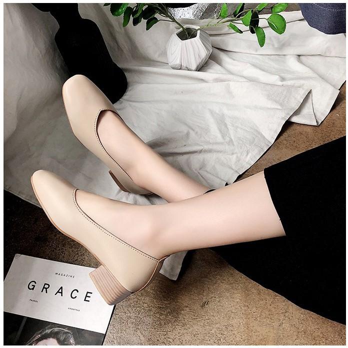 Zaampรองเท้าส้นสูงแฟชั่นเกาหลี รองเท้าคัชชู tinkerbell