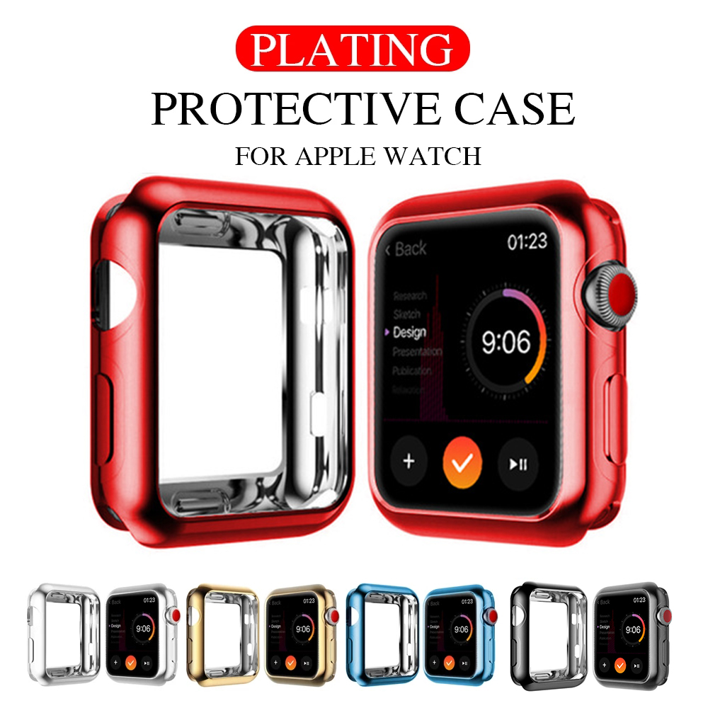 Cover for Apple Watch case 44mm 40mm iWatch Case 42mm 38mm Soft TPU Bumper Protector apple watch series 6 5 4 3 SE Accessories
