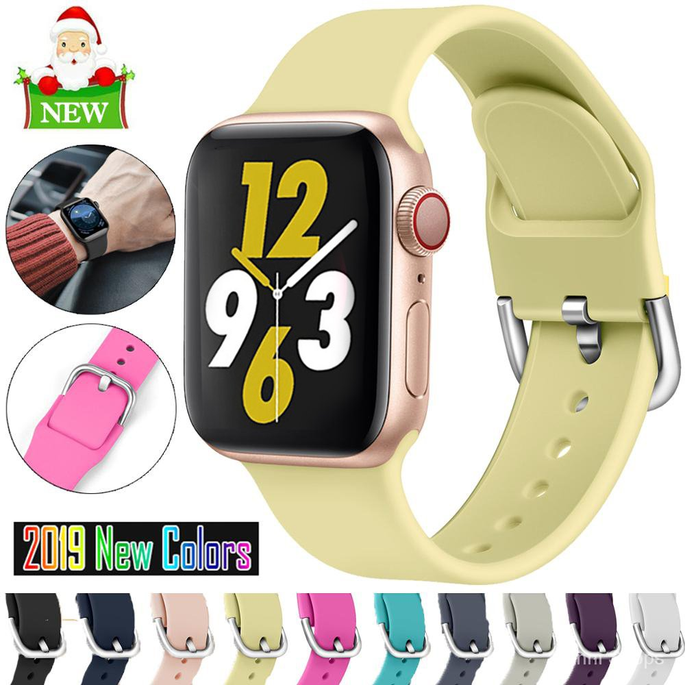 Strap For Apple Watch 5 4 bands 38mm 42mm Sport Silicone Bracelet correa For iWatch series 5 4 band 44mm 40mm Rubber Wat
