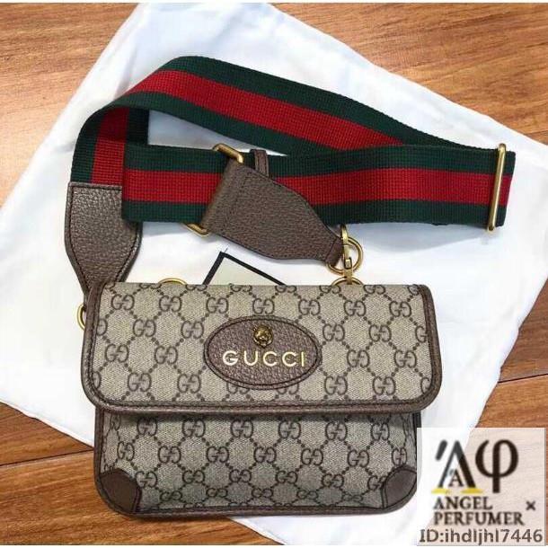 Gucci 493930 GG Supreme Belt Bag กระเป๋าคาดเอวลายเสือ