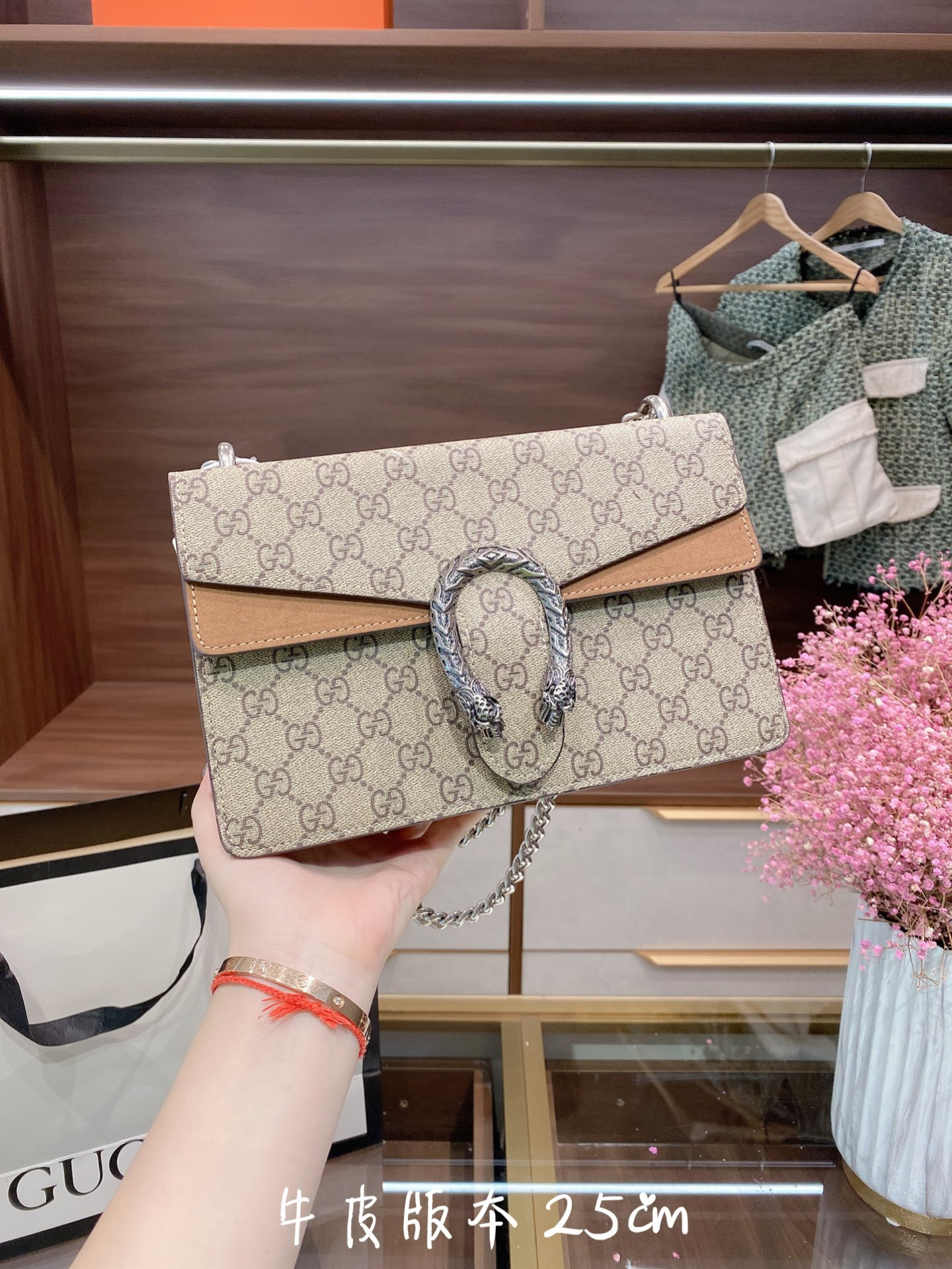 dionysus leather clutch women slingbag chain shoulder bag for gucci กระเป๋าสะพายข้างผู้หญิง