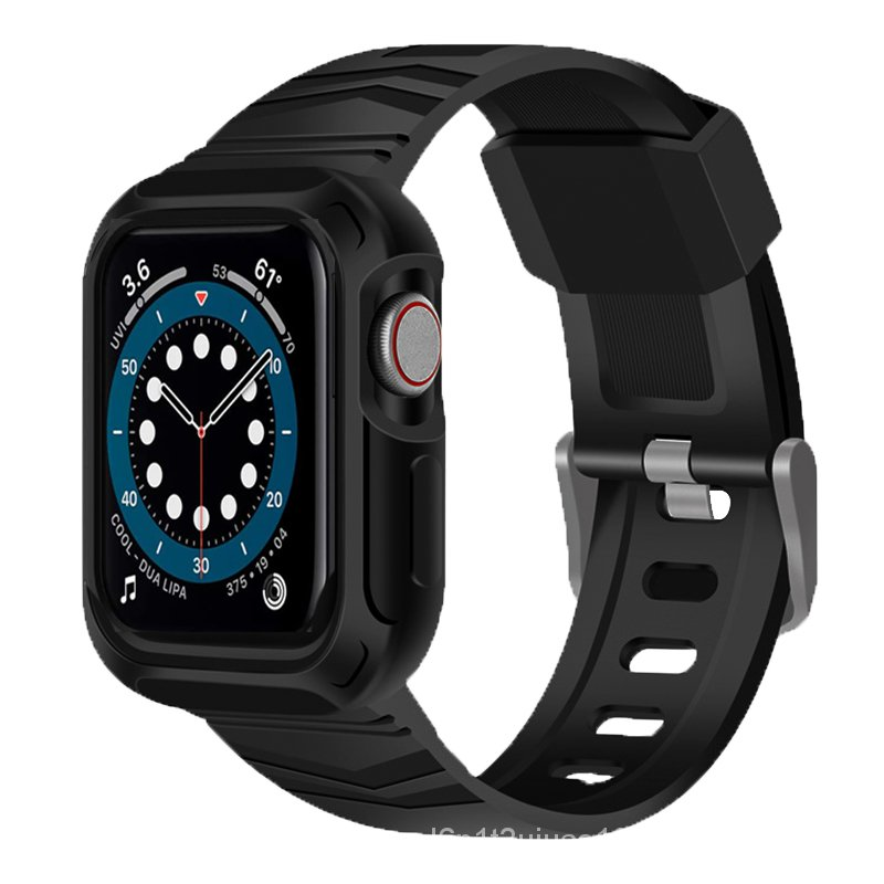 Newest Clear Strap + Case for Apple Watch 5 Band 40mm silicone sports Loop Series 6 SE 5 4  for iwatch Strap  40mm 44mm