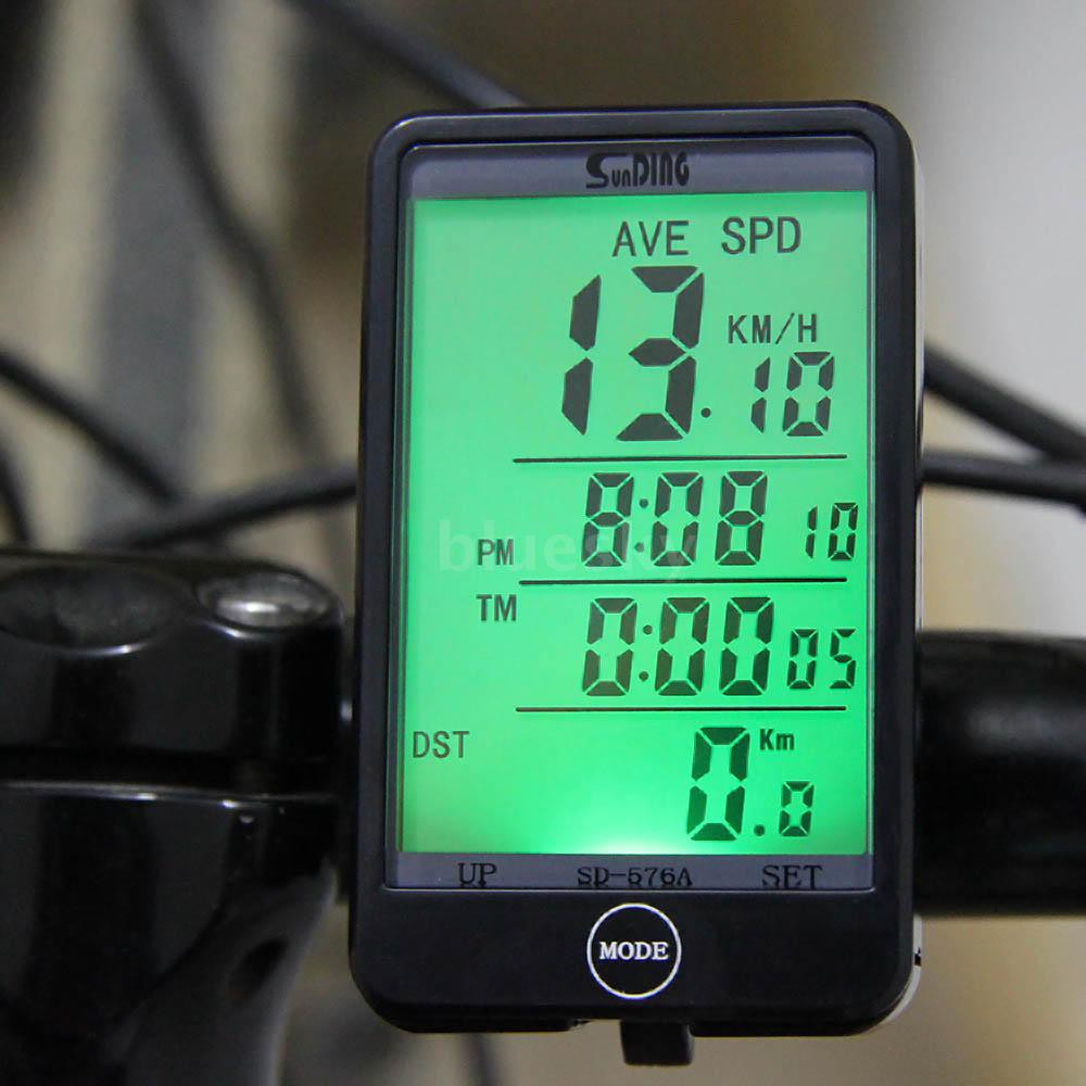 Waterproof Backlight Cycling Bicycle Bike Computer Odometer Speedometer New