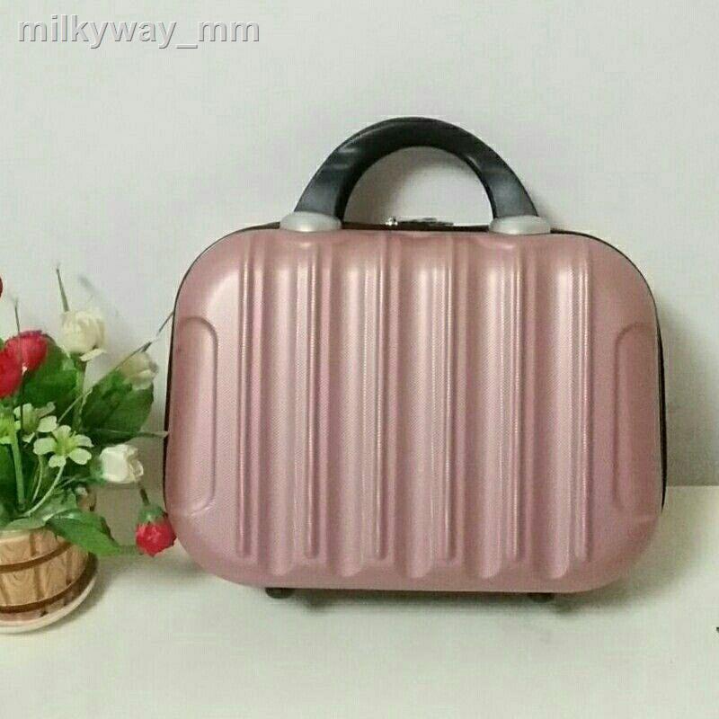 มัลติฟังก์ชั่นกระเป๋าเครื่องสำอางกันน้ำ 14 นิ้วกระเป๋าเดินทางขนาดเล็ก 16 กระเป๋าเดินทางขนาดเล็กกระเป๋าใส่เครื่องสำอางกร