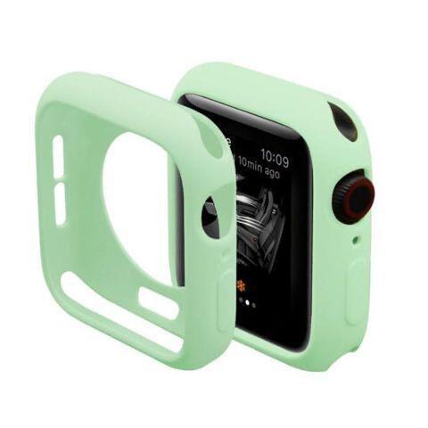 ❡Apple Watch shell Series5 ฝาครอบป้องกัน 3 Applewatch4 Candy ซิลิโคนนาฬิกาเคสแบบรวมทุกอย่างเคสป้องกันแบบอ่อน