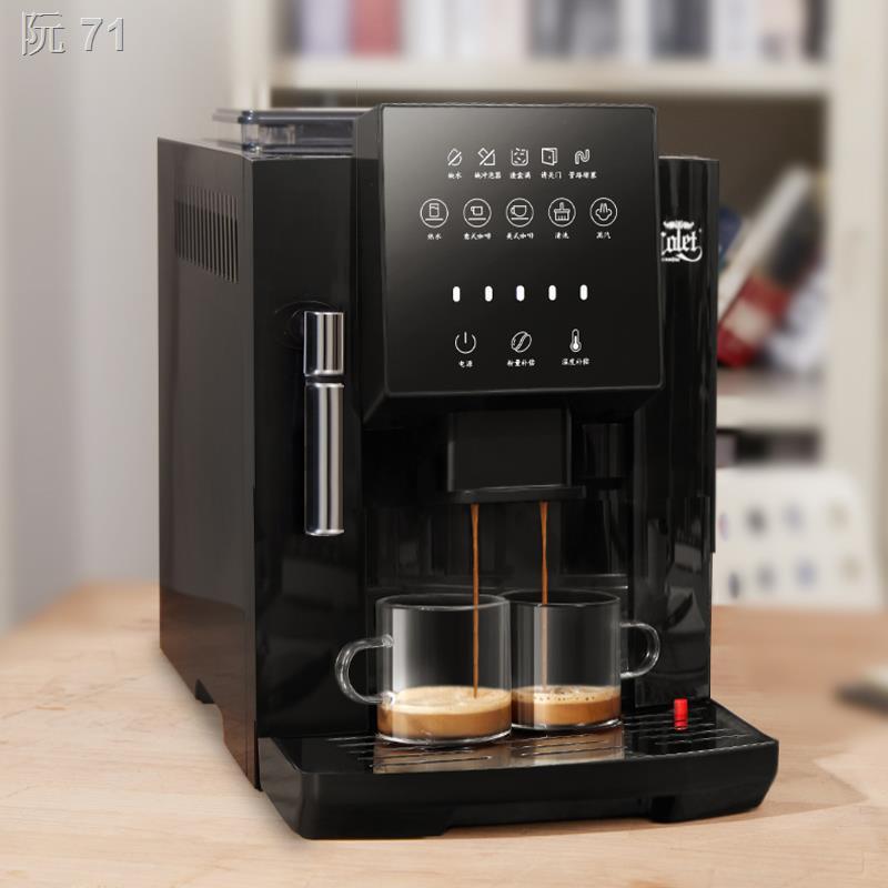 ✗✣☑Calent หน้าจอสัมผัสอัตโนมัติในตัวเครื่องทำฟองนมไอน้ำในครัวเรือนเครื่องชงกาแฟสดขนาดเล็กบดสดสไตล์อเมริกัน 07S เครื่องช