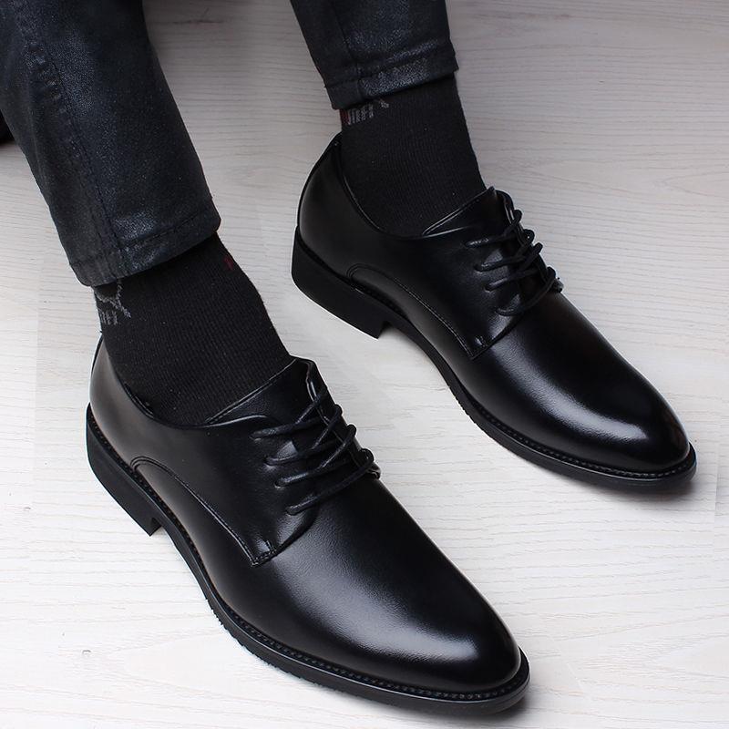 ۞℗ↂรองเท้าหนังรองเท้าหนังผู้ชาย คัชชูหนัง รองเท้าหนังสำหรับผู้ชายรองเท้าแฟชั่นเยาวชน  รองเท้าผูกเชือก
