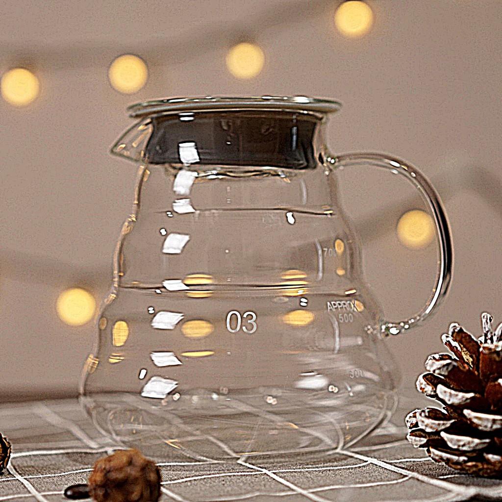 เหยือกแก้ว ชงกาแฟดริป ขนาด 700 cc. Coffee Drip Pitcher เหยือกแก้วสวยหรู สำหรับทำกาแฟดริป และเครื่องดื่มต่างๆ