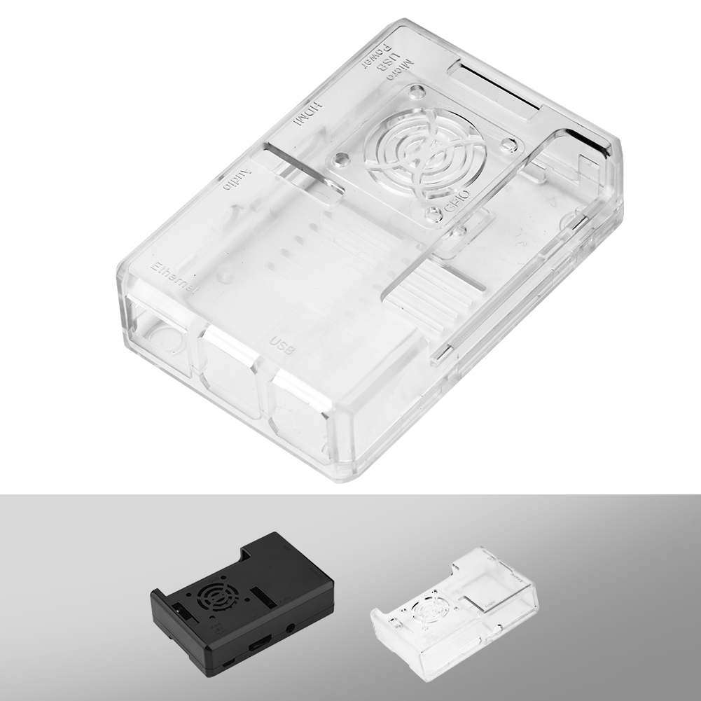 ABS Protective Case Enclosure Box Cover with Fan Hole For Raspberry Pi 3 Model B