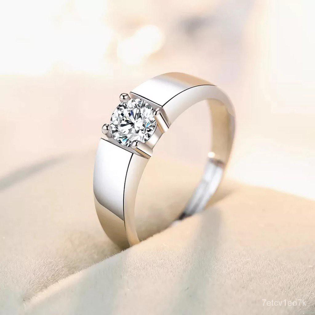 พร้อมส่งสินค้าอยู่ไทย*ราคา 2วง แหวนเพชรเม็ด2วงทองคำขาว  แหวนคู่   A50-3(2วง) 8LUw