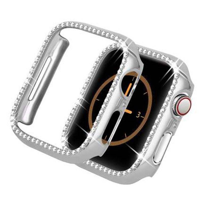 💥 สาย applewatch 🔥 เหมาะสำหรับ Apple SE Watch Applewatch เปลือกป้องกันเพชรรุ่น iwatch456 ฝาครอบป้องกัน 3 กรอบป้องกันกา