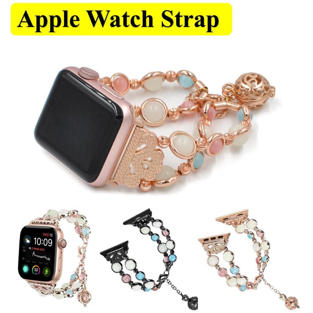 สาย applewatch สายนาฬิกา applewatch เปล่งแสง สายนาฬิกา Apple Watch เหล็กกล้าไร้สนิม สาย Apple watch Series 1/2/3/4/5/6 /