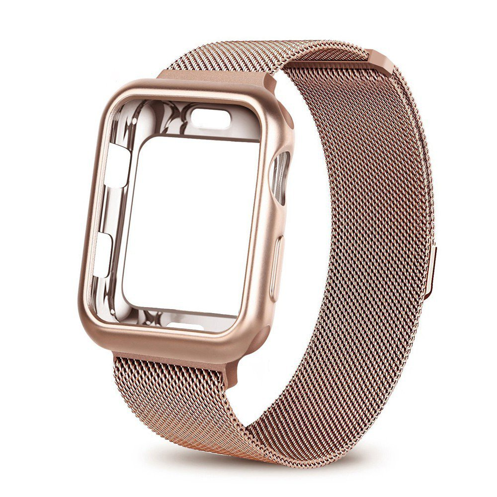 【24H SHIPS】Case+Milanese strap for Apple Watch 6 SE Band 38mm 42mm 44mm 40mm iwatch series 6/SE/5/4/3/2/1