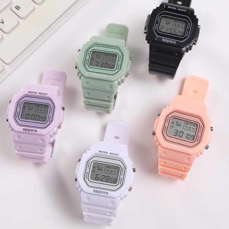 แฟชั่นผู้หญิงนาฬิกาข้อมืออิเล็กทรอนิกส์พร้อมไฟ LED กีฬา NO.SB0308