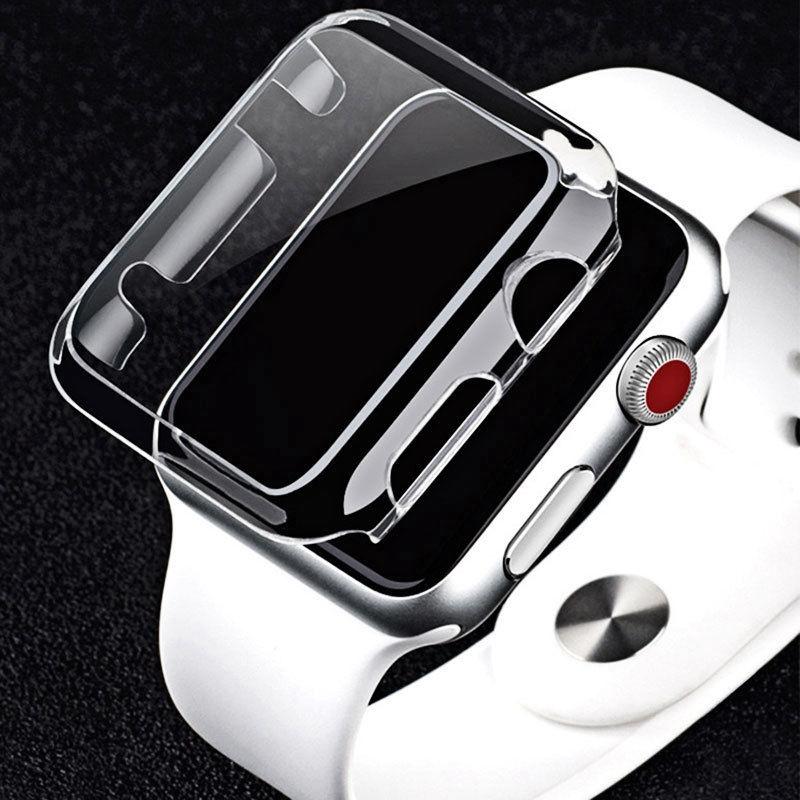 เคสคริสตัลเคลียร์ฮาร์ดปก PC Case สำหรับ Apple Watch Series 1 2 3 4 38mm 42mm 40mm 44mm