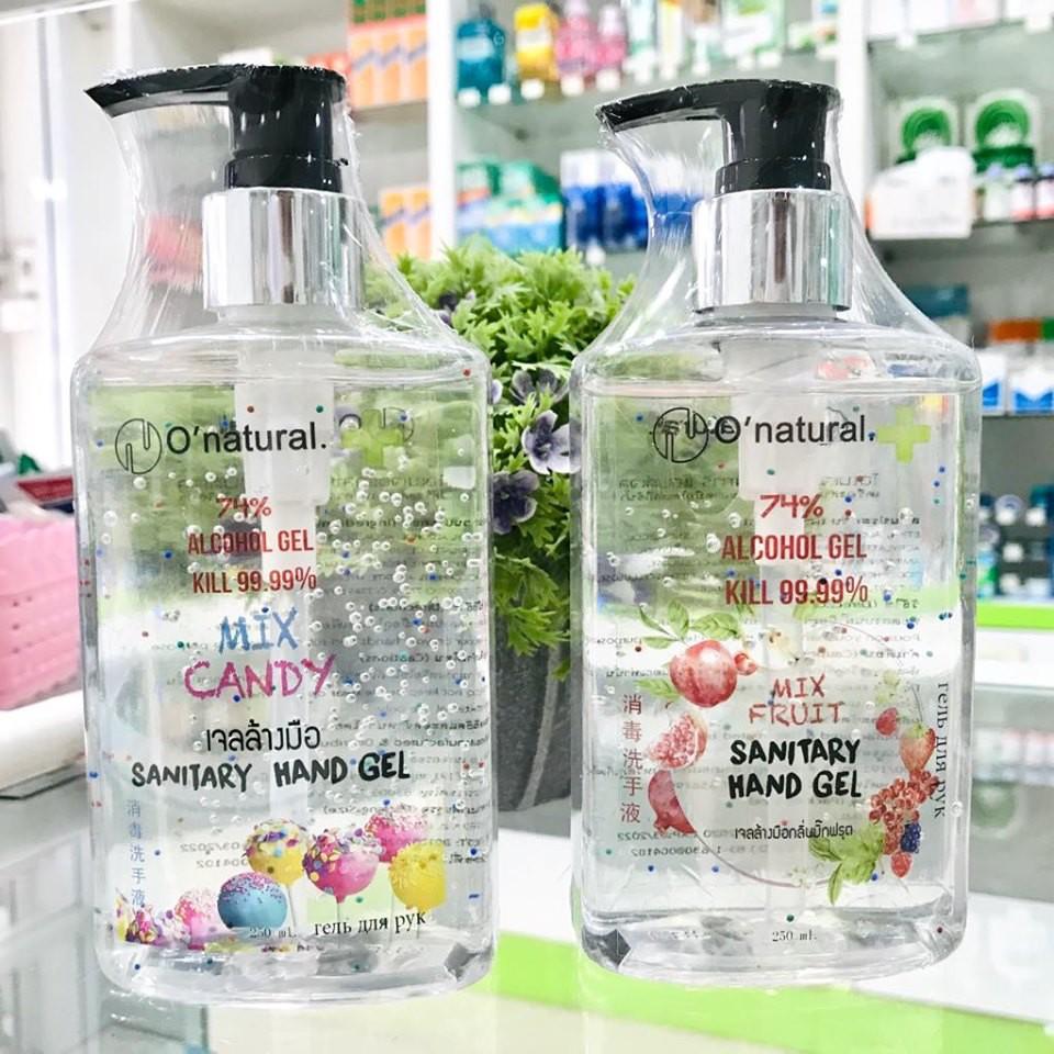 💚 เจลล้างมือคุณภาพ มีกลิ่นหอม O'natural 74% แอลกอฮอล์