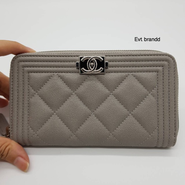 New chanel zippy wallet medium 6 grey caviar Hl28