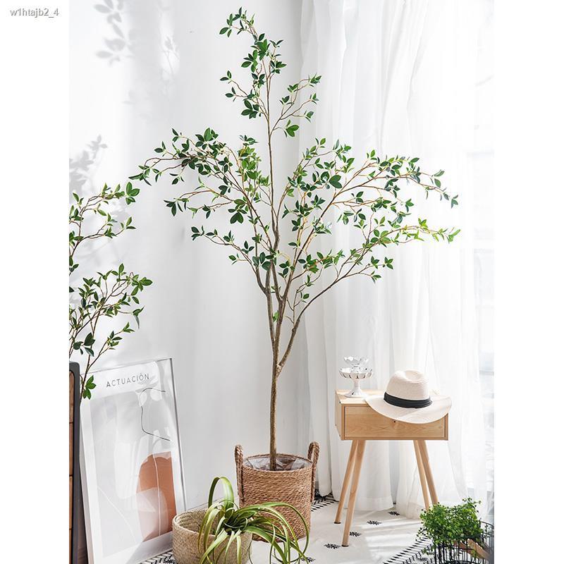 การจำลองพันธุ์ไม้อวบน้ำ◐■❖พื้นตกแต่งต้นไม้จำลองลมนอร์ดิกอินส์ พืชสีเขียวปลอมขนาดใหญ่ ห้องนั่งเล่นในร่ม กระถาง เครื่องประ