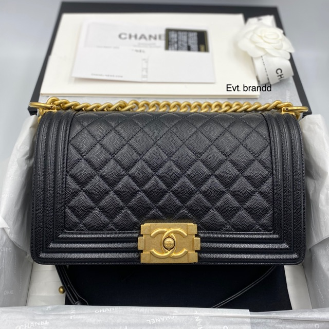 New Chanel boy 10 caviar Hl29 ghw Fullset