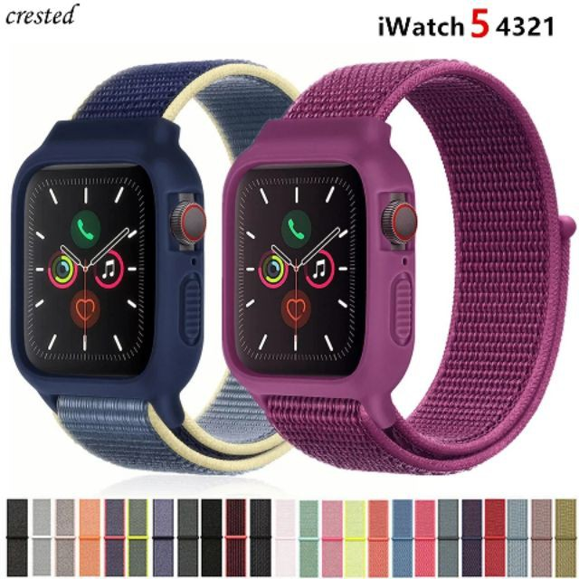 เคส applewatch ไนลอน สายพร้อมเคส สำหรับapple watch iwatch series 1 2 3 4 5 สาย สายไนลอน สายสปอร์ต